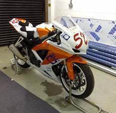 Racing motorcycle graphics