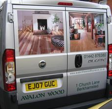 Company car window graphics