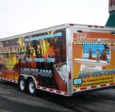 Tanning Salon Truck Graphics