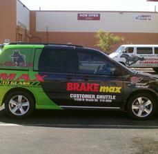 Auto service center van graphics
