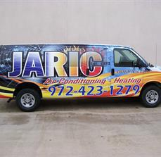 HVAC company car graphics