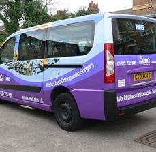 Medical company vehicle graphics