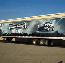 Semi truck concert graphics