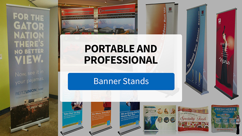 Professional and Portable with Banner Stands from FASTSIGNS - Video