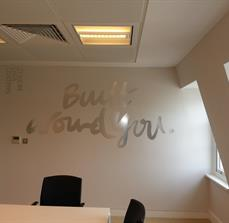 Wall quotes using vinyl