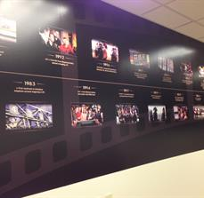 Company History Timeline Display