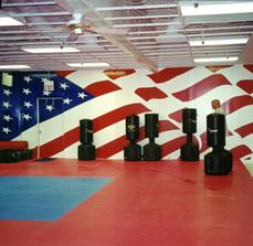 Boxing facility wall decals