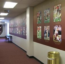 College athlete wall of fame graphics