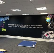 Game room wall decals