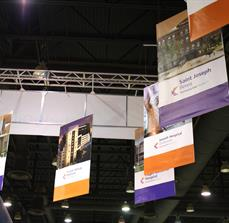 Healthcare convention hanging banners