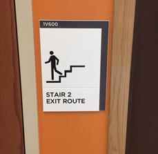 Stair Exit Signs