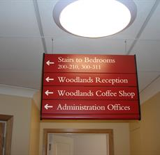 Hanging Hotel Wayfinding Signs