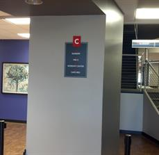Compact wayfinding signs