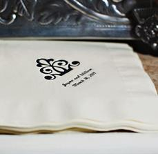 Custom Wedding Napkins