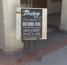 Wedding Seating Signs