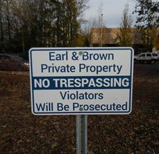 No Trespassing Signs