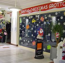 Santa Shop Window Graphics