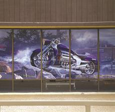 Motorcycle Shop Window Decals