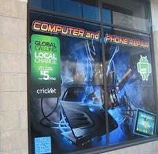 Tech company window decals