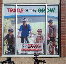 Bike Shop Window Graphics