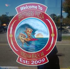 Pizza Restaurant Window Graphics
