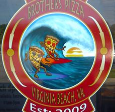 Pizza restaurant window decals