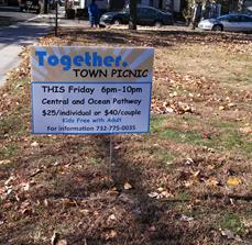 Community event yard signs