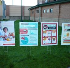 Charity awareness yard signs